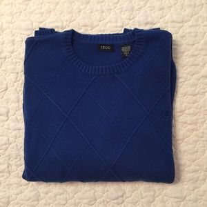 Men's Izod Royal Blue Crewneck Sweater